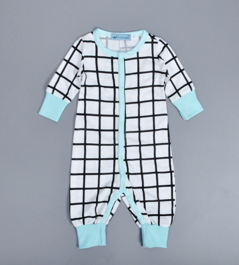 Spring style newborn baby jumpsuit 2017 fashion plaid