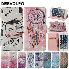 DEEVOLPO Case For Fundas iPhone X XS 7 8 5 5S SE 6 6S Plus Luxury Flip Leather Card Slot Fashion Coque Phone Cover D03Z