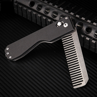 Tactical Comb Foldable Tungsten Steel Self defense Women Security Multifunction Tool EDC Equipment Comb Survival Camping Tools