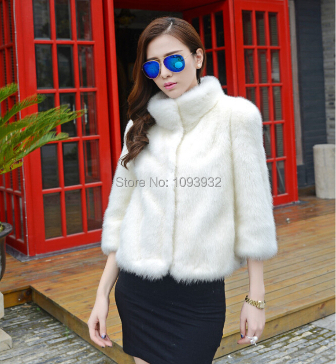 New Arrival Women's Mink Fur Coat And Jacket Mandarin Collar Winter Thicken Warm Coats Plus Size S-XXXL-5XL Outerwear