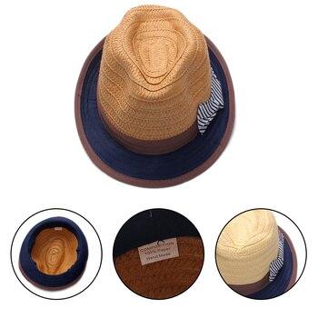 Niños sombreros de paja sólido niñas sombrero del verano niños playa Cap  Bow Flower Girls Cap Panamá sombreros Niños Accesorios 10Y bf937269839