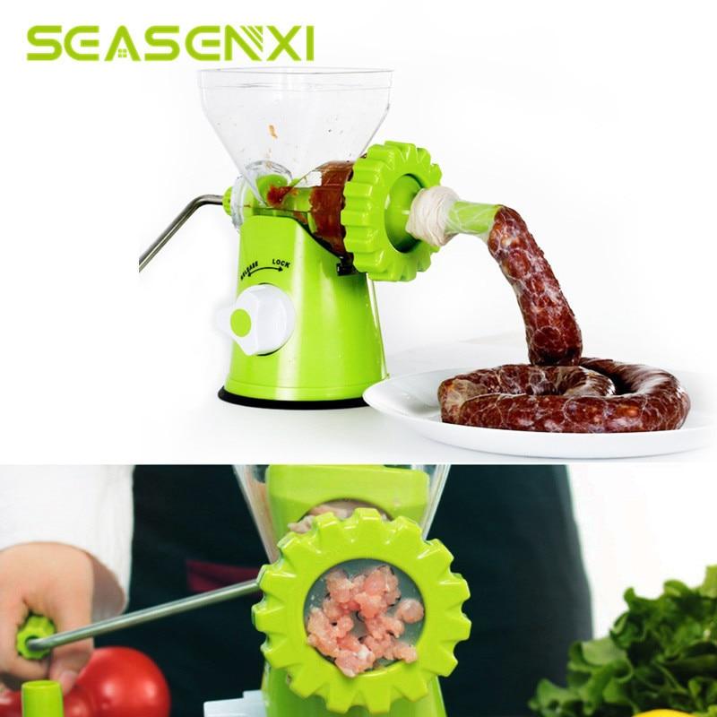 Manual Grinder Mincer Household Multifunction Meat Cooking Mincers Tool Stainless Steel Blade Sausage Vegetable Beef Machine