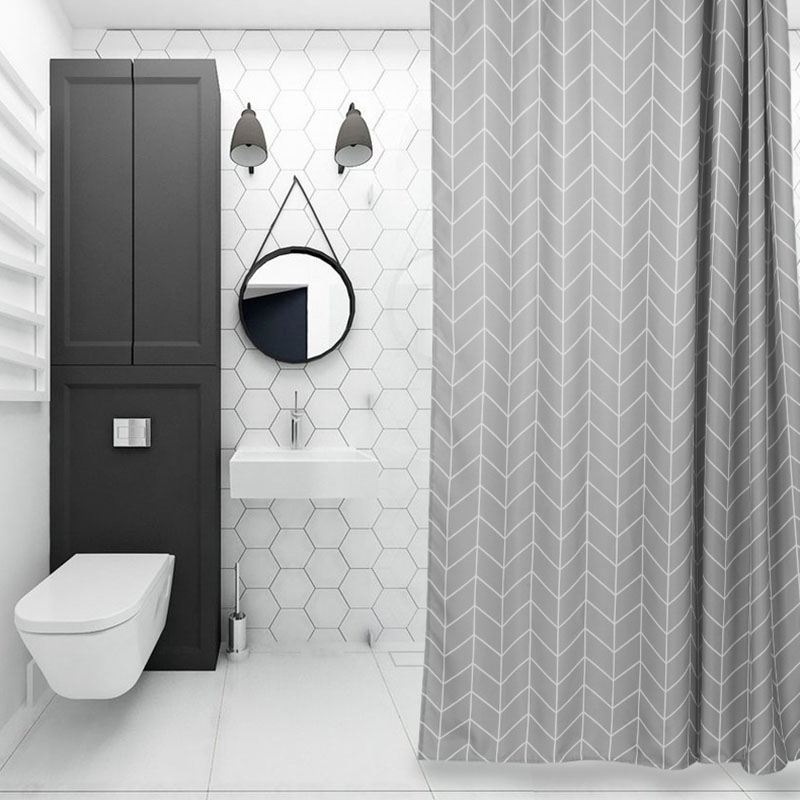 Good habitat Nordic style shower curtain fabric bathroom curtains waterproof mildew thickening thick shower partition curtain