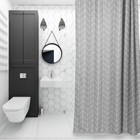 Good habitat Nordic style shower curtain fabric bathroom curtains waterproof mildew thickening thick shower partition curtains