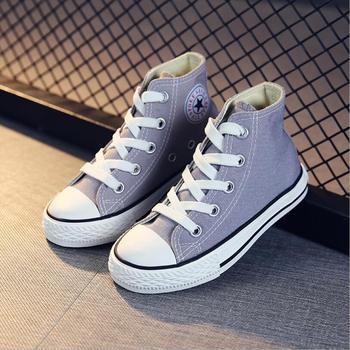 2019 รองเท้าผ้าใบเด็กรองเท้า Breathable ชายรองเท้าผ้าใบรองเท้าเด็กสำหรับกางเกงยีนส์กางเกงยีนส์เด็...