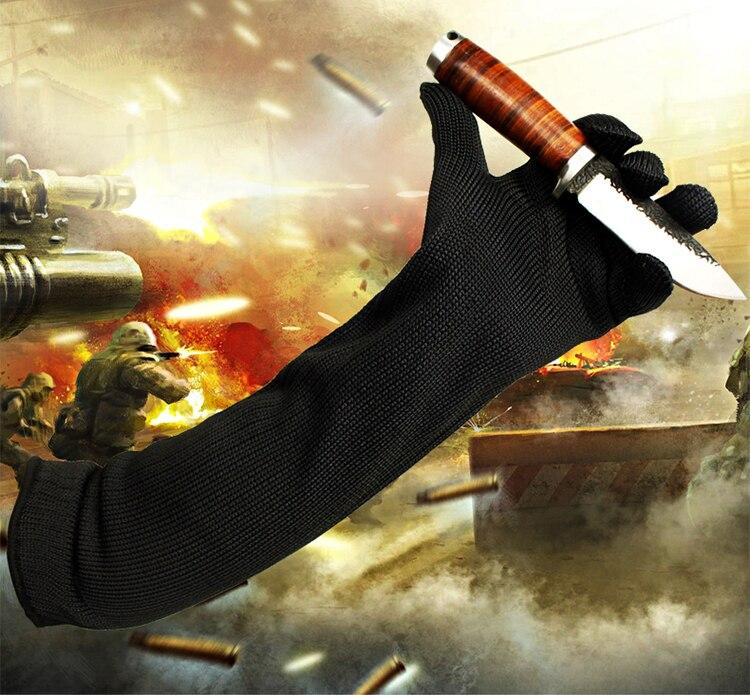Длинные перчатки доказательство защита из нержавеющей стальной проволоки безопасности в области подмышек металла Мясник анти-резки дышащ...
