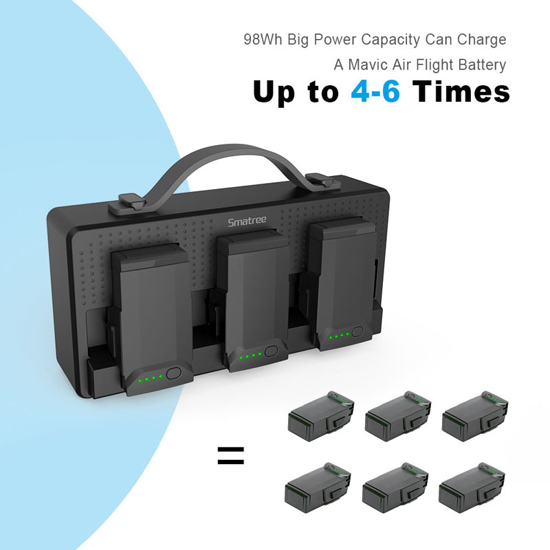 3fceb9d6548 Smatree DP100 Battery Charger For DJI Mavic Air Batteries For Cellphone  iPad Remote Control Charging Hub Charge 3 Batteries-in Digital Batteries  from ...