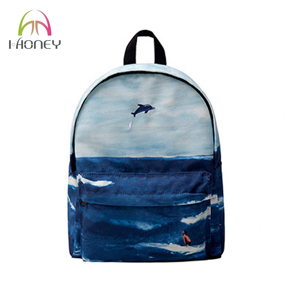 9d075f75a15d IHONEY4U Printing Backpack For Baby Care High Quality Mom Bag Mummy  Maternity Di