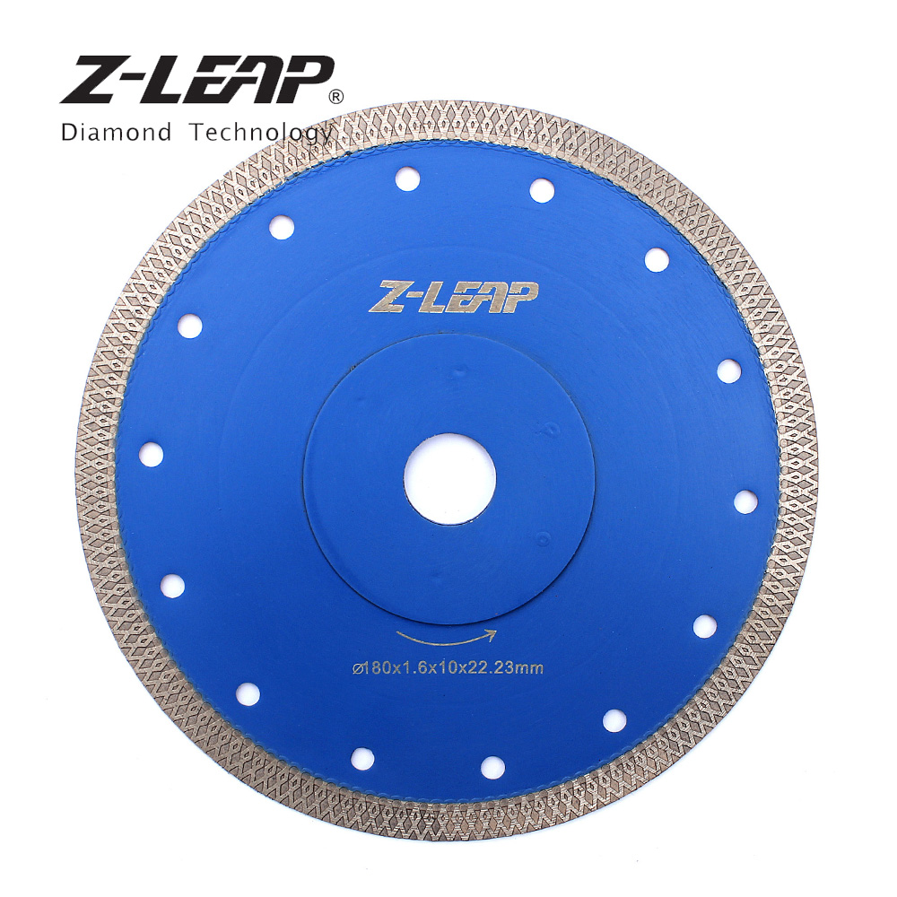 Z-LEAP 180mm Super Thin Diamond Saw Blade 7 Inch 1piece Diamond Ceramic Procelain Tile Marble Cutting Disc Saw Blade free shipping dc sxsb02 4 5 inch super thin diamond ceramic saw blade 115mm for cutting porcelain tile