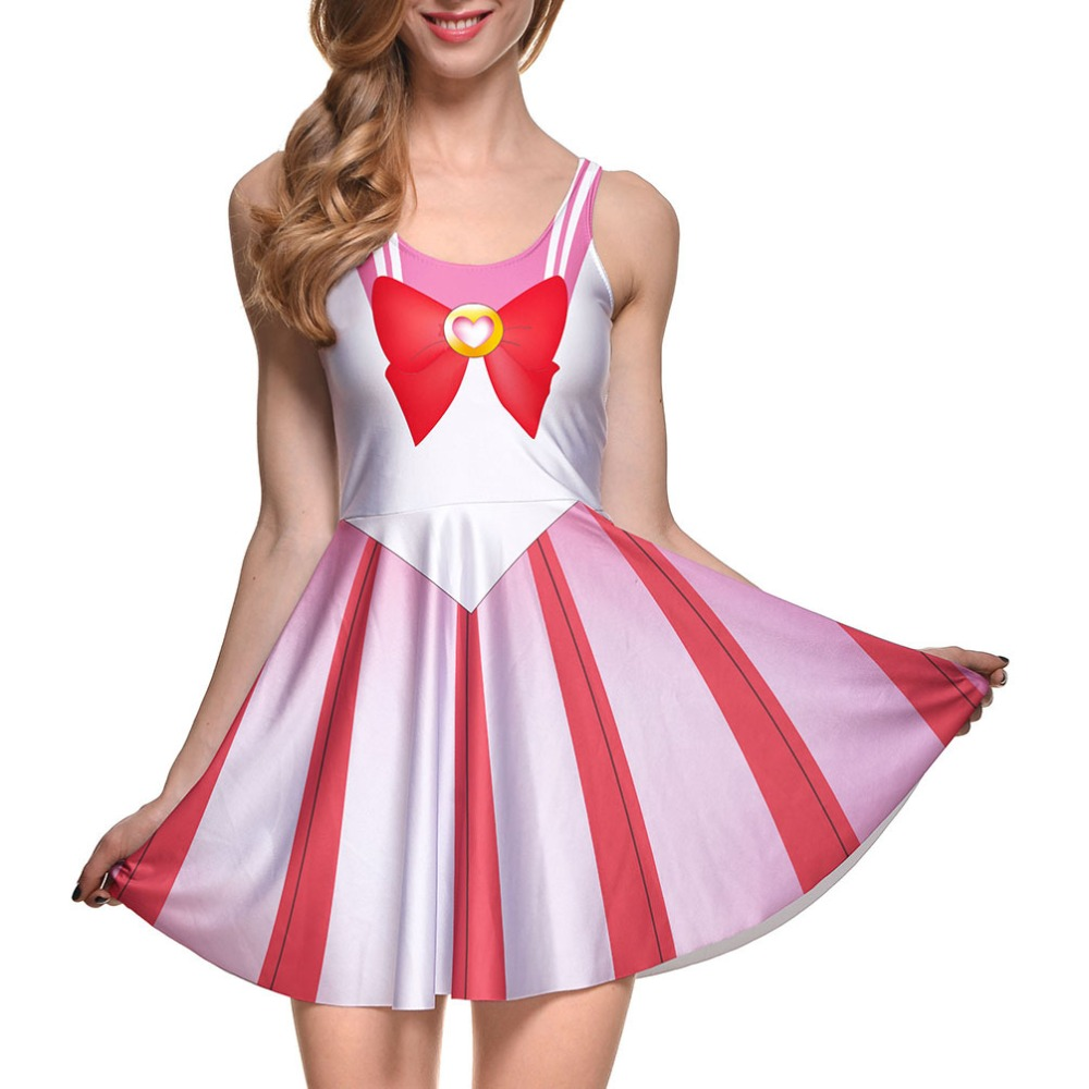 New Adult Women's Sailor Moon Cosplay Costume Dress party Dresses Free Shipping