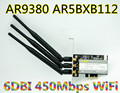 Atheros AR5BXB112 AR9380 PCI-E 1X inalámbrico WiFi tarjeta WLAN 450 M de doble banda 2.4 G 5.0 GHZ inalámbrico tarjeta WiFi del adaptador para escritorio PCI