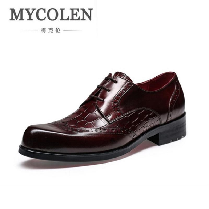 MYCOLEN New Leather Men Oxford Shoes Lace Up Casual Business Men Stone Pointed Shoes Brand Men Wedding Dress Shoes Black men leather shoes casual new 2017 genuine leather shoes men oxford fashion lace up dress shoes outdoor business casual shoes