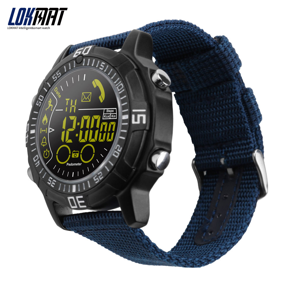 LOKMAT Smart Watch Men Outdoor Sport Watches Pedometer Smartwatch Bluetooth Smart Electronics For Ios Android Phone
