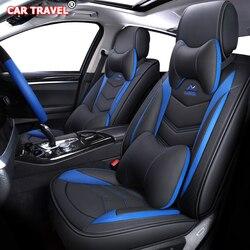 Luxe Lederen auto seat cover voor hyundai solaris tucson accent creta getz coupe grand i10 i20 i30 i40 ix35 ionia kona santa fe