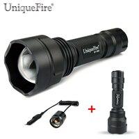 Uniquefire uf-1505 t38 controle remoto led lanterna cree xp-g e/w/r lâmpada de luz ip65 à prova d' água tocha + pressão remoto para a caça