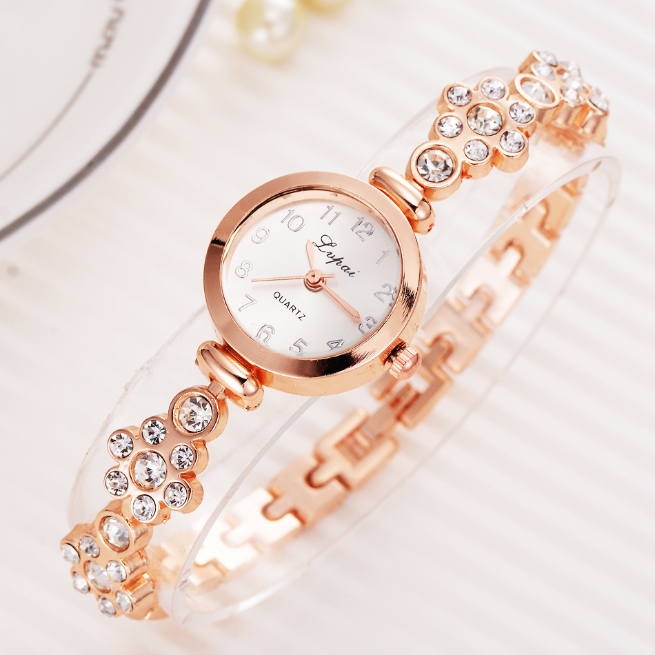 Lvpai Bracelet Watch For Women Ladies Fashion Quartz-watch Female Imitation Diamond Wristwatch Watches For Women Female Watch 2016 women diamond watches steel band vintage bracelet watch high quality ladies quartz watch