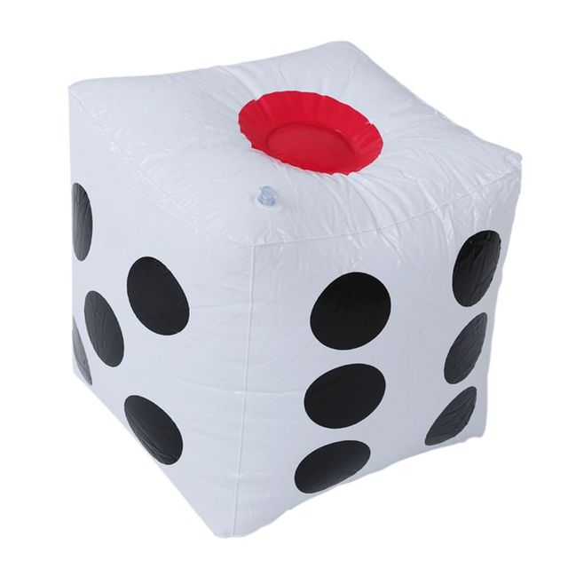 32 cm Inflatable Thổi Lên Cube Dice Casino Poker Đảng Decorations Hồ Bơi Bãi Biển Đồ Chơi