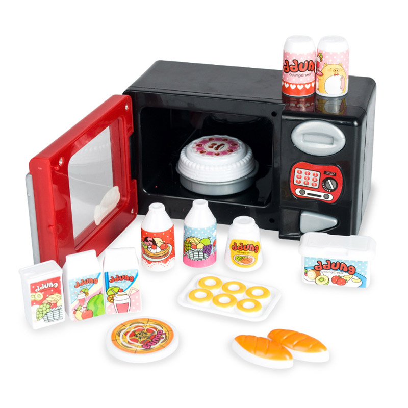 Ddung kids pretend play microwave oven food miniature for Mini kitchen set for kids
