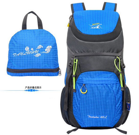 TANLUHU 642 Nylon 40L Sports Bag Folding <font><b>Backpack</b></font> Outdoor Climbing Hiking Bag Sports Unisex Mountaineering Bag
