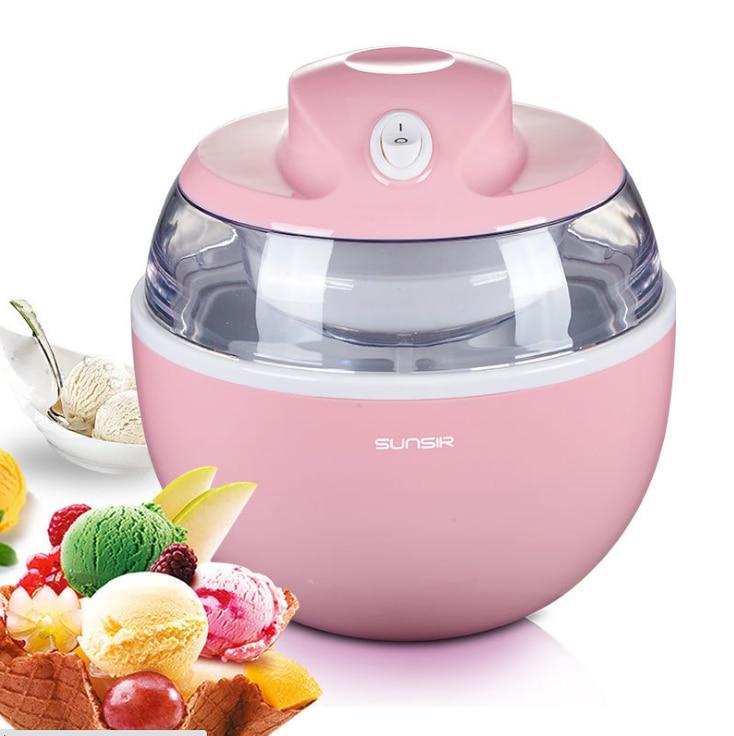 Home DIY Ice-cream Machine Mini Fully Automatic Self-made Children Fruit Ice Cream Maker Slush Machine  Ice Cream Container