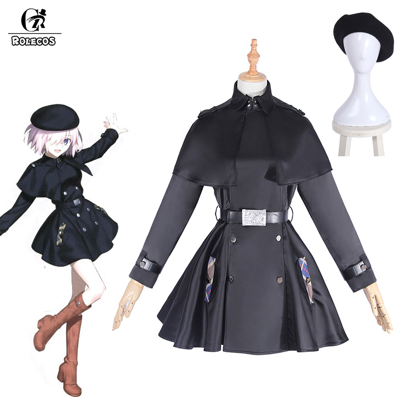 ROLECOS Fate Stay Night Matthew Kyrielite Cosplay Costume Sort Grand Ordre Tranchée Cosplay Costume Femmes Uniforme D'hiver Manteau