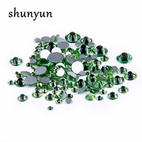 DIY Craft Glass Rhinestone Peridot Color Beads For Jewelry Making Supplies Natural Stones And Crystals Charms
