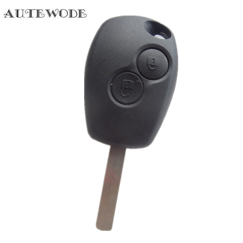 AUTEWODE New Replacement Shell Remote Key Case Fob 2 Button for RENAULT Duster Modus Clio 3
