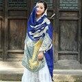 2016 de Alta Qualidade Feliz das Mulheres da Queda do Inverno Poncho Infinito Ética Vintage Estilo Lady Poncho de Malha Capa Xale Cachecol de Caxemira