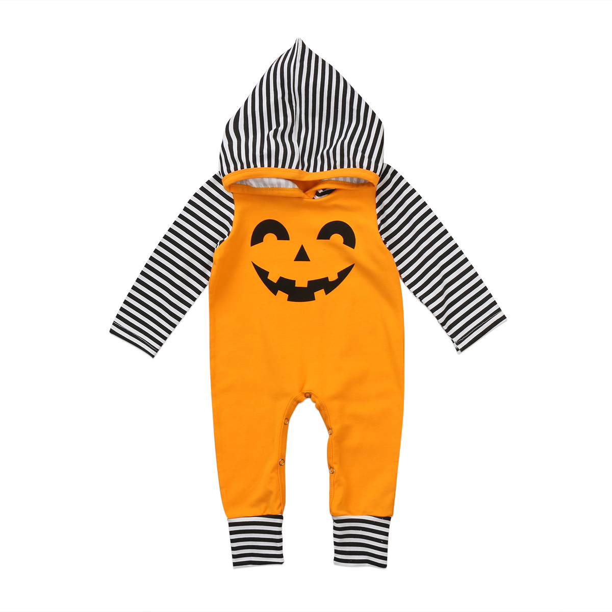 Newborn Baby Boy Girl Warm Romper Jumpsuit Bodysuit Hooded Clothes Halloween Set Baby boy baby girl halloween hooded jumpsuit newborn baby bodysuit infant jumpsuit overall summer 100% cotton short sleeves o neck boy girl romper clothes set