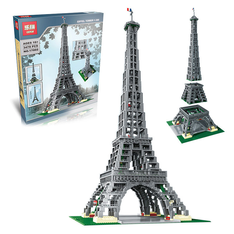 DHL Lepin 17002 3478Pcs The Legoingly 10181 Paris Eiffel Tower Set Model Building Blocks Bricks As Birthday Gifts Toys For Kids