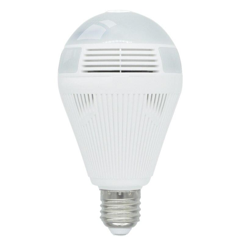 LED Light 960P Wireless Panoramic Home Security WiFi CCTV Fisheye Bulb Lamp IP Camera 360 Degree Home Security Two Way Audio