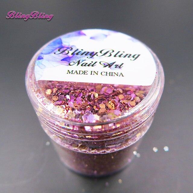 Online Shop Blingbling 10 Ml Rose Goud Diamanten Glitter Nail Art