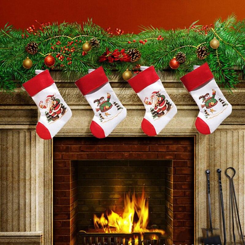 Santa Snowman Pendant Christmas Ornaments New Year Socks ...