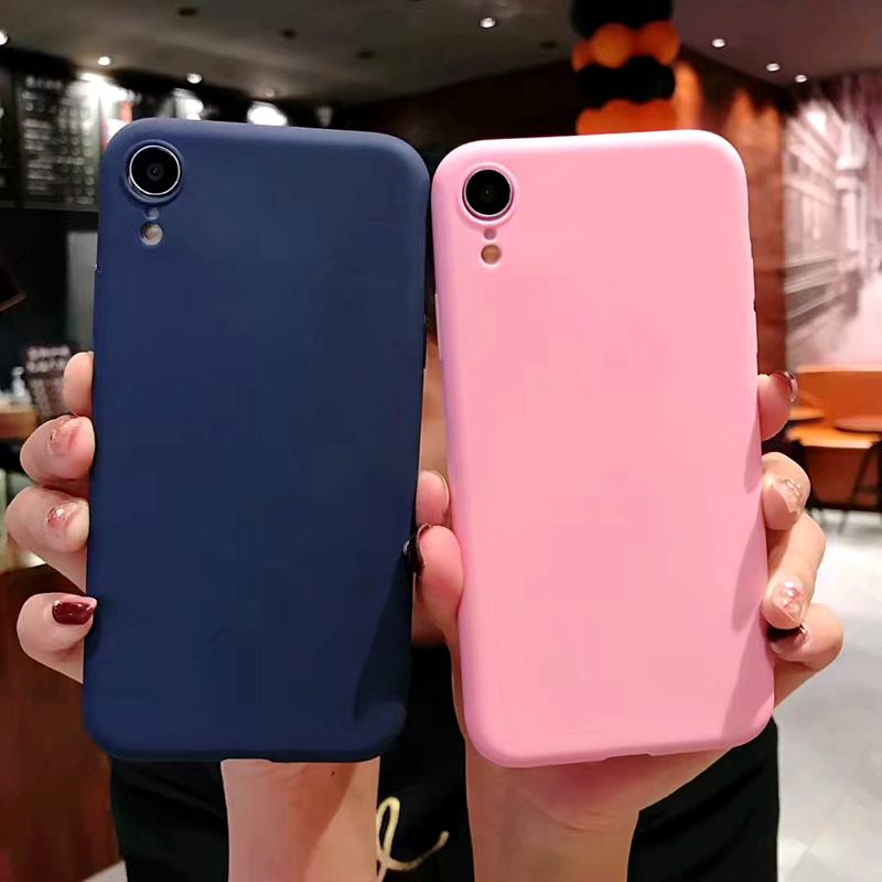 For Samsung Galaxy J415 Case Ultra thin Color TPU Silicone Cover For Galaxy J415 Case Solid Color Frosted Soft Back Cover in Fitted Cases from Cellphones Telecommunications