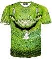 New fashion 3d snake/tigers/lions t shirt men printing animal head t-shirt summer short sleeve tops plus size M-XXL camisetas