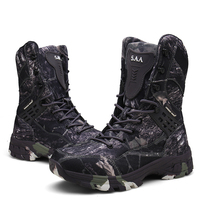 Men Boots Autumn Military Tactical Combat Ankle Boot Camouflage Winter Army Work Shoes Male Outdoor Hiking Shoes Hunting Boots