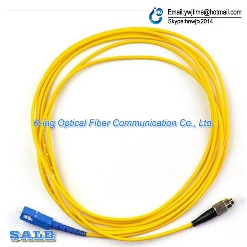 10pcs/lot SC-FC single core fiber jumper fiber optic cable 5 meters SC-FC pigtail Optical fiber connecting tool