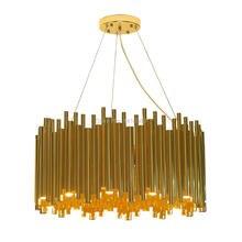 Postmodern designer simple personality villa hall Chandelier Galliano round chandelier Advanced art lamp Light luxury