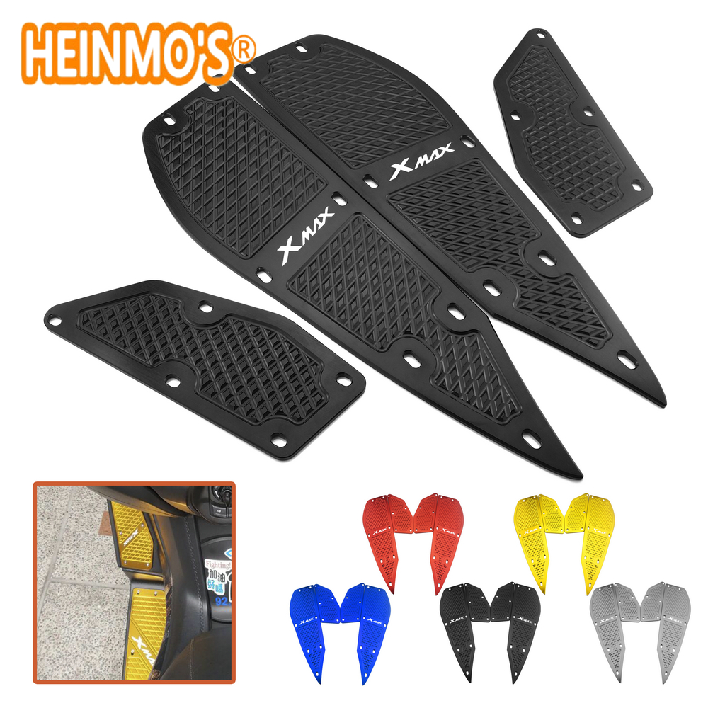 For yamaha xmax 300 1 Set 4 PCS Footrest Pedal Plates x max 300 Motorcycle Scooter Accessories xmax 300 For yamaha Foot Rest Pad-in Covers & Ornamental Mouldings from Automobiles & Motorcycles
