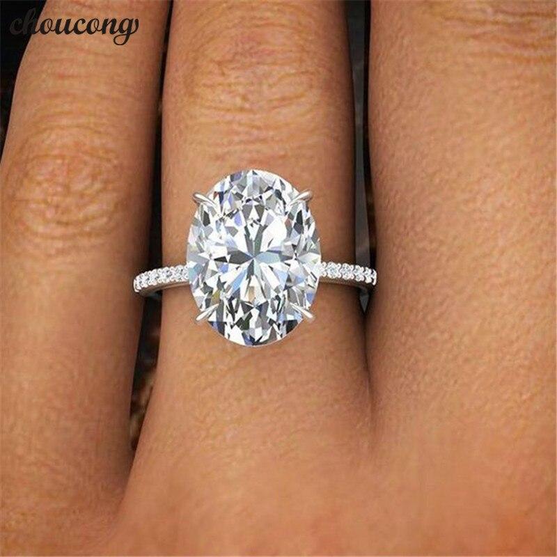 Choucong 2018 Versprechen Finger Ring 925 sterling Silber oval cut 3ct AAAAA Sona cz Engagement Band Ringe Für Frauen Hochzeit schmuck
