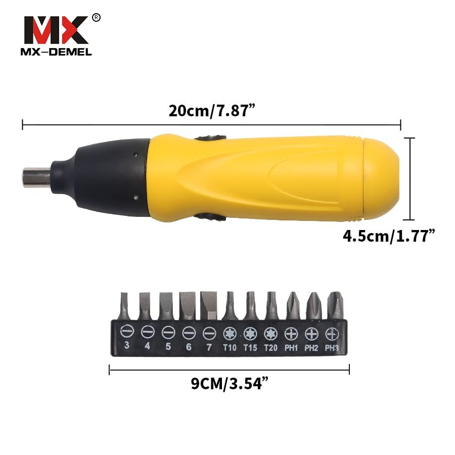 Wkrętak elektryczny MX-DEMEL Zestaw wkrętaków akumulatorowych 6 V - Elektronarzędzia - Zdjęcie 3