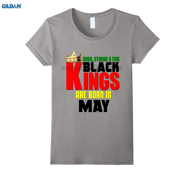 e6f3aae19 GILDAN Good Strong Fine Black Kings Are Born In May Birthday Shirt ...