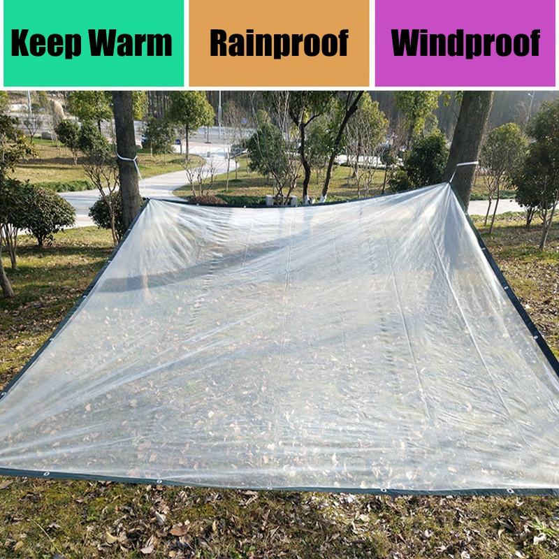 6-Size Plants Care Cover Transparent Protective Film Bonsai Succulents Flower Keep Warm Rainproof Shelter Rain Film Tarpaulin