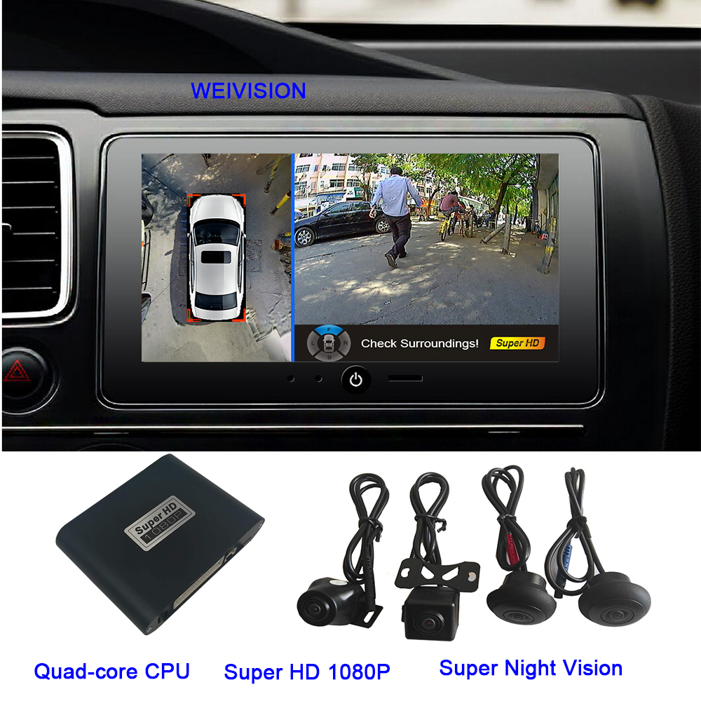 Car Accessories 1080P Weivision HD 360 Degree bird View font b System b font Surround Panoramic