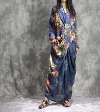 Женский костюм из 2 предметов с принтом, свободное платье жилет с принтом внутри и снаружи, лето
