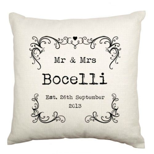 Hot Personalised Mr Mrs Wedding Anniversary Gifts Modern Mr Mrs New Mr And Mrs Pillow Covers