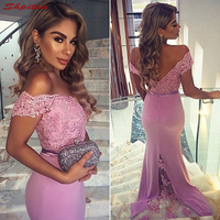 Lace Mermaid Bridesmaid Dresses Long for Wedding Party Women Satin Brides Maid Dresses Gowns