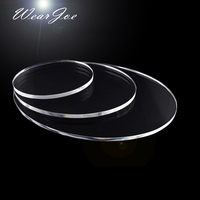 Set of 3 Oval Acrylic Plexi Glass Risers for Counter Top Display Jewelry Ring Earring Pendant Necklace Bracelet Holder Organizer
