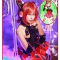 IN STOCK Lovelive! Awaken Cyber Idolized LED Gaming Kotori Nico Nozomi Maki Cosplay Costume Halloween Uniform Dress+Gloves+Socks