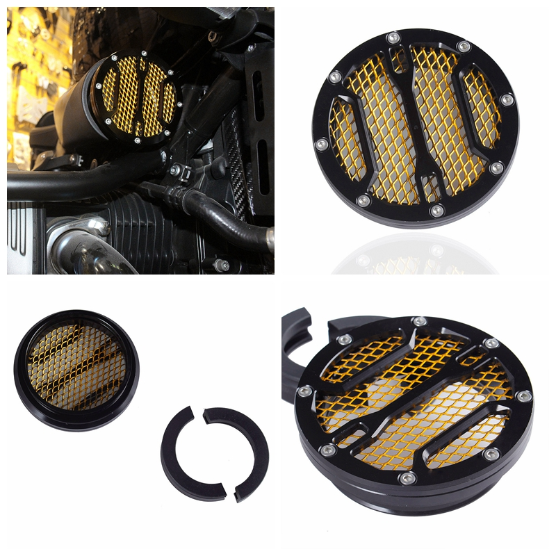 For BMW R nine t Air Intake Cover CNC Air intake Filter Black Gold For R